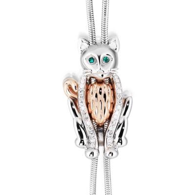 Das exklusive Geschenk für Katzenliebhaberinnen Justierbares Collier Charming Cat der Linie Animal Collection