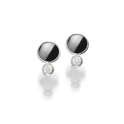Ohrringe von Cablecar Jewelry der Linie Ceramic Tango in 18kt Weissgold