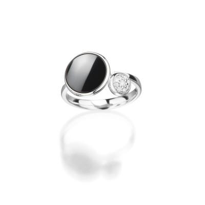 Ring von Cablecar Jewelry der Linie Ceramic Tango in 18kt Weissgold