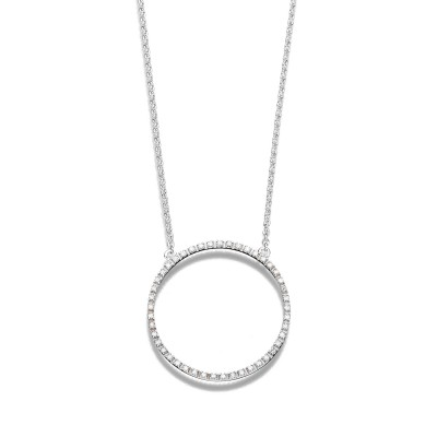 Collier L.A Creation Evaine Circle in 18kt Weißgold und feinen Brillanten