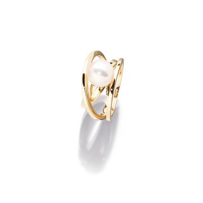 Akoya Perlen Ring in 18kt Gelbgold