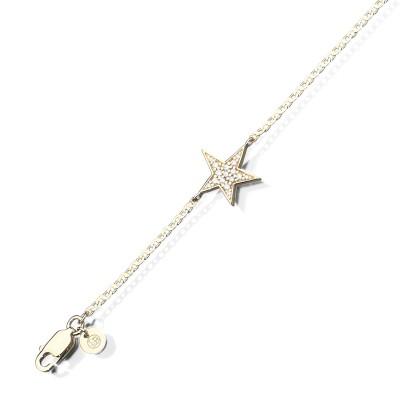 Armband Star der Linie Miss in 14kt Gelbgold mit Brillanten