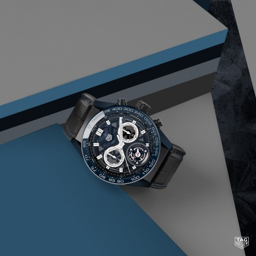 """TAG Heuer Carrera Chronometer mit Chronograph und Tourbillon """"Tête de Vipère"""" Limited Edition"""