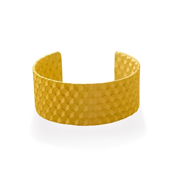 Oscar & Filu Armreifen Ezequiel, Gelbgold vergoldet, Ref. AR0112017SVG