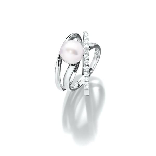 Erlesener Südsee Perlen Ring in 18kt Weißgold