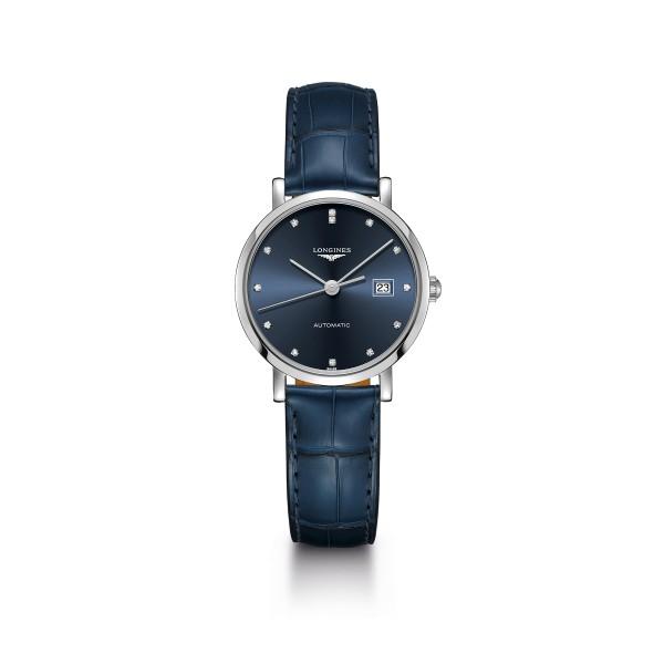 The Longines Elegant Collection, Ref. L4.310.4.97.2 mit blauen Zifferblatt