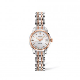 The Longines Saint-Imier Collection- Damen Automatik Uhr in Edelstahl & 18kt. Roségold Ref. L2.263.5.72.7