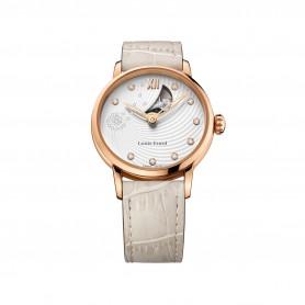 Louis Erard Emotion Damen- Automatik- Uhr in Edelstahl Roségold vergoldet mit Brillanten Ref. 64 603 PR31