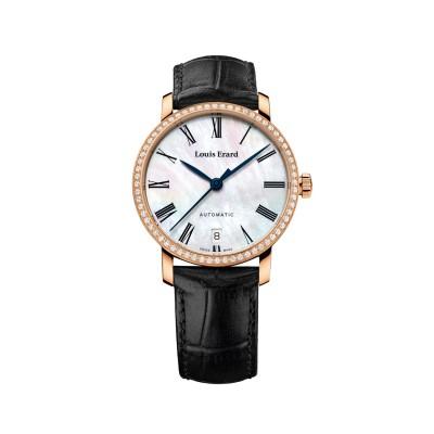 Louis Erard Excellence Date Damen- Automatikuhr- Roségold vergoldet