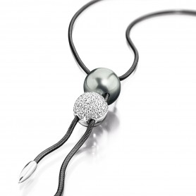 Cablecar Collier mit Tahitiperle- Free Pearl
