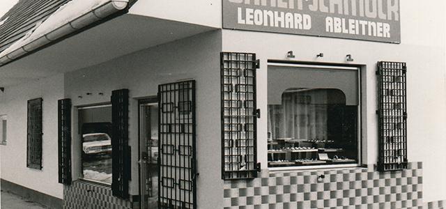 1977: Eröffnung des Geschäftes und Schmuckwerkstätte in Lieboch