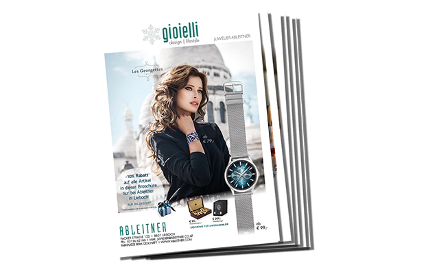Aktuelle Trend-Broschüre Uhren & Schmuck- GIOIELLI von Juwelier Ableitner