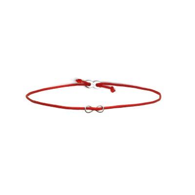 Xenox Crazy Daisy Infinity Armband - Nylon verstellbar. Sterling Silber