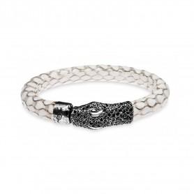 Armband in Silber und Leder von Platadepalo Woman