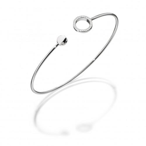 Cablecar Jewelry Flexibler Armreifen Embracelet Evaine in 18kt Weißgold mit Brillanten