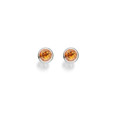 Ohrringe mit Citrinen in 18 kt Weißgold