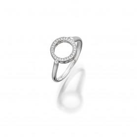 Brillant Ring in 18 kt Weißgold der Linie Evaine Finesse von Ableitner