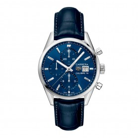 TAG Heuer Carrera Calibre16 Chronograph mit blauen Zifferblatt