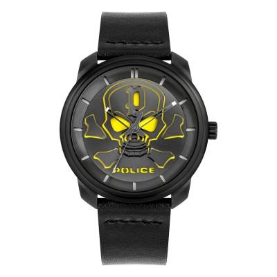 Police Armbanduhr Bleder mit Totenkopf