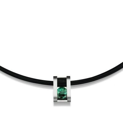 Anhänger aus der Kollektion it´s jewel art von Andreas Ableitner mit grünen Turmalin in 950/000 Platin