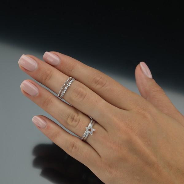 Evaine Memoirering in Kombination mit anderen Ringen der Evaine Kollektion