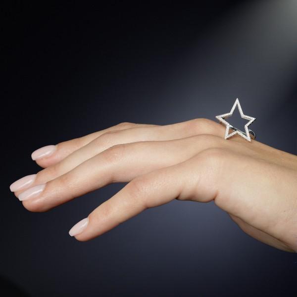 Stern-Ring in 750/000 Weißgold der Linie Evaine Finesse