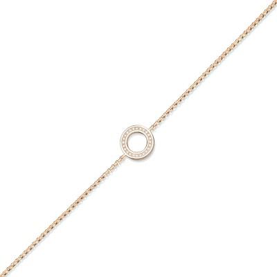 Zartes Armband mit einem Brillant-Kreis in 750/000 Roségold der Linie Evaine Swing