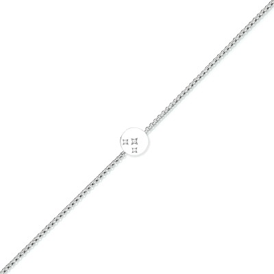 """Zartes Armband """"3 Stars"""" in 750/000 Weißgold der Linie Evaine Swing"""