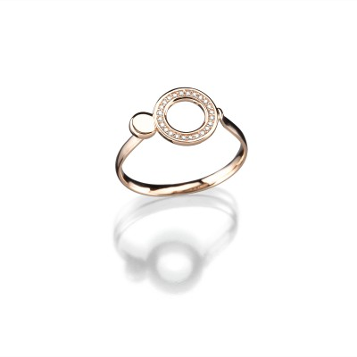 "Ring Evaine Swing ""Circle"" in 750/000 Roségold und feinen Brillanten"