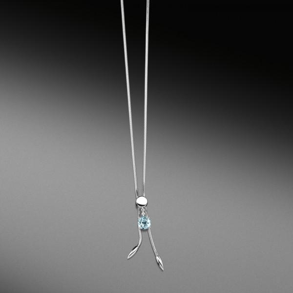Cablecar- Collier der Linie Free Jewelry Swing in 750/000 Weißgold mit Topas und Brillant