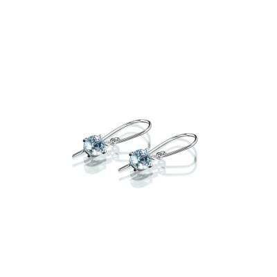 Ohrringe der Linie Free Jewelry Swing in 750/000 Weißgold mit Topas und Brillanten