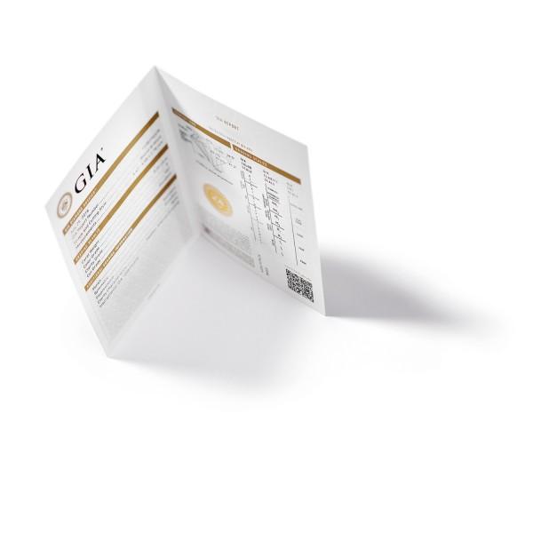 GIA-Zertifikat (Beispielfoto)