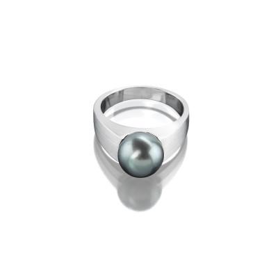 von ABLEITNER | Ring mit Tahiti-Kultur-Perle | 750 Weißgold