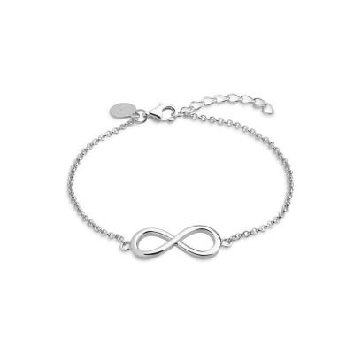Symbolic Power Armband Silber Unendlichkeitszeichen