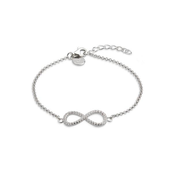Symbolic Power Armband Silber Zirkonia Unendlichkeitszeichen