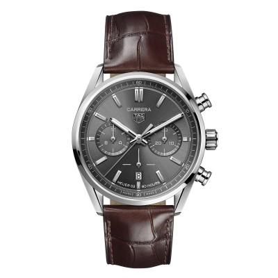 Zeitlose, elegante Herren-Luxusuhr mit grauem Zifferblatt
