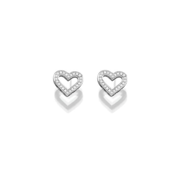 Ohrringe in Herzform