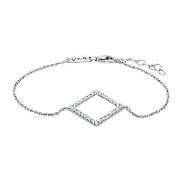 Armband Silber Eckig