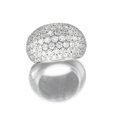 Prachtvoll, exklusiver Pave-Brillant-Ring, gross