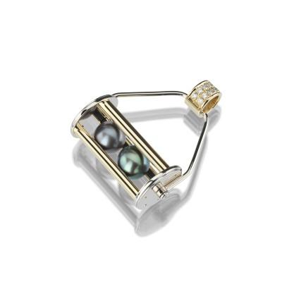 Moderner. innovativer Perlenanhänger