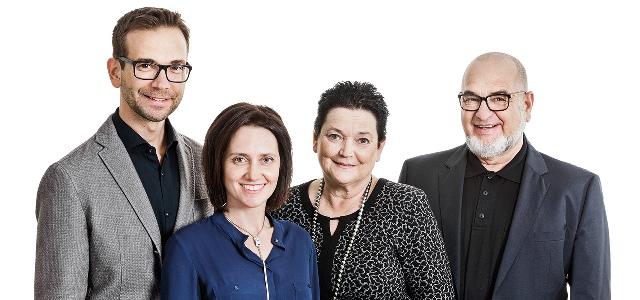 von links nach rechts: Andreas Ableitner, Manuela Ableitner, Erna Ableitner und Leonhard Ableitner