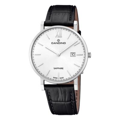 Armbanduhr mit silbernen Zifferblatt
